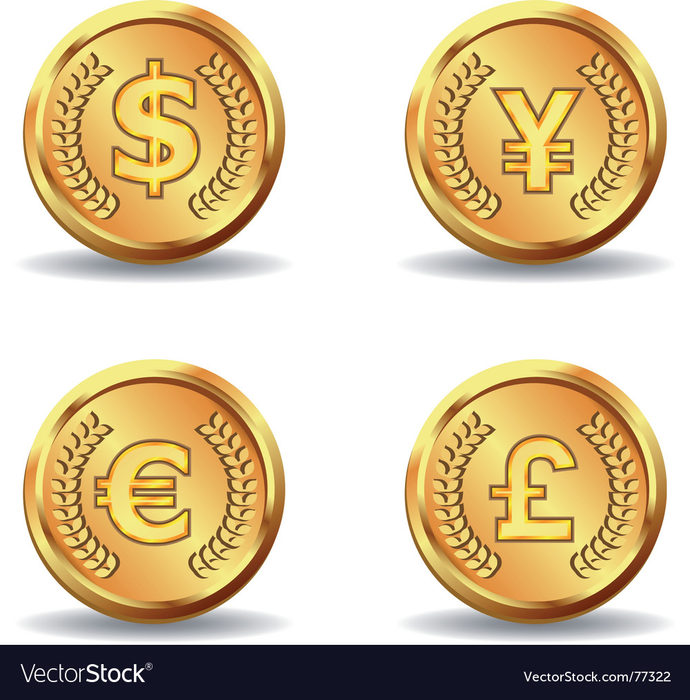 Gold currency icon vector | Price: 1 Credit (USD $1)