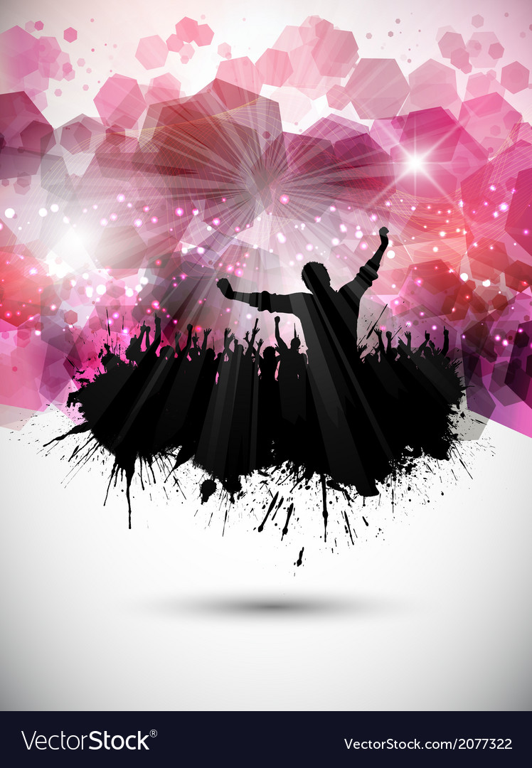 Grunge party crowd background vector | Price: 1 Credit (USD $1)
