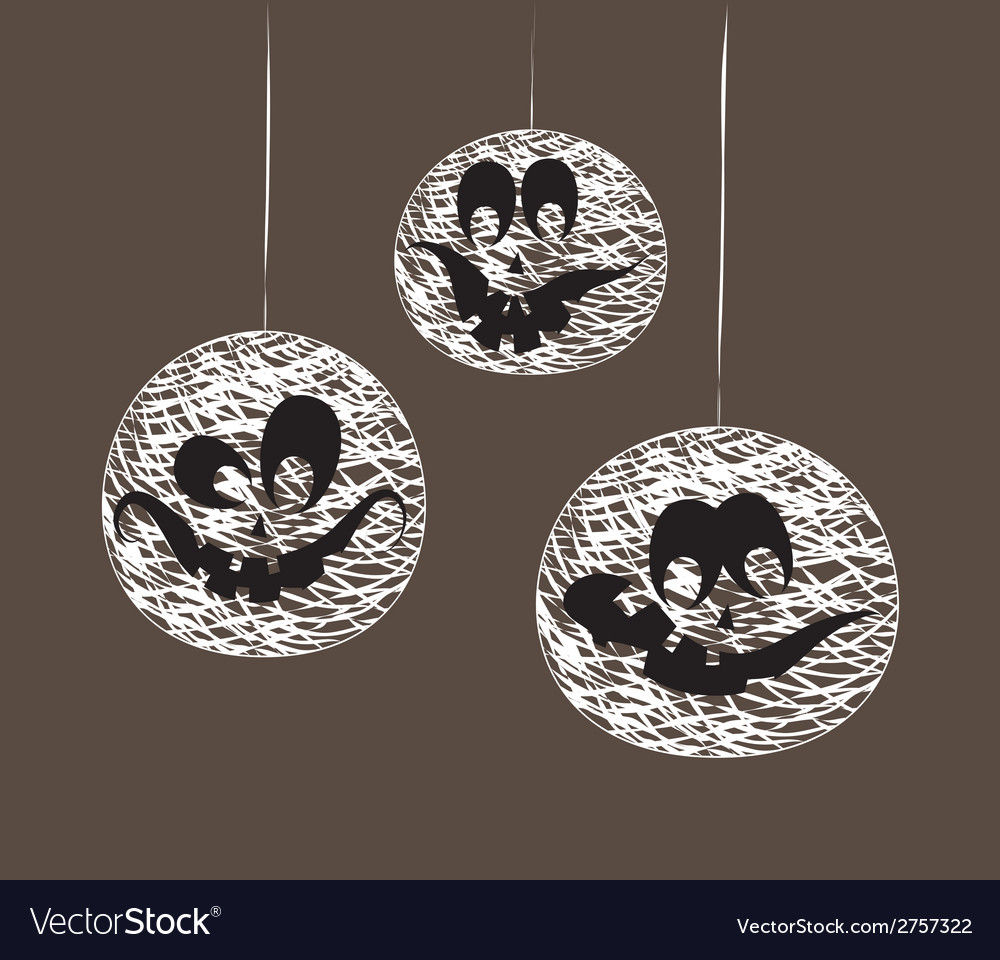 Halloween string garland vector | Price: 1 Credit (USD $1)