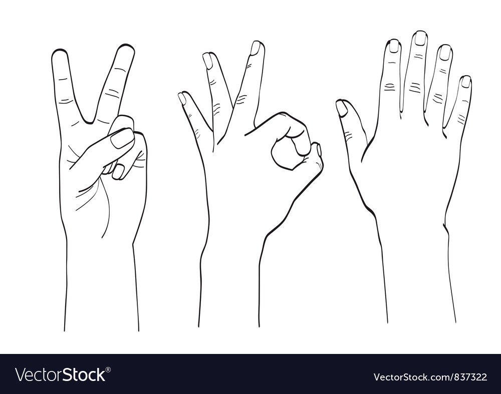 Hand gestures vector | Price: 1 Credit (USD $1)