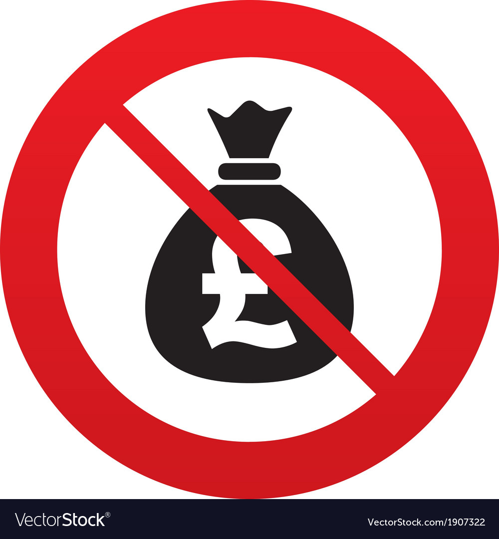 No money bag sign icon pound gbp currency vector | Price: 1 Credit (USD $1)