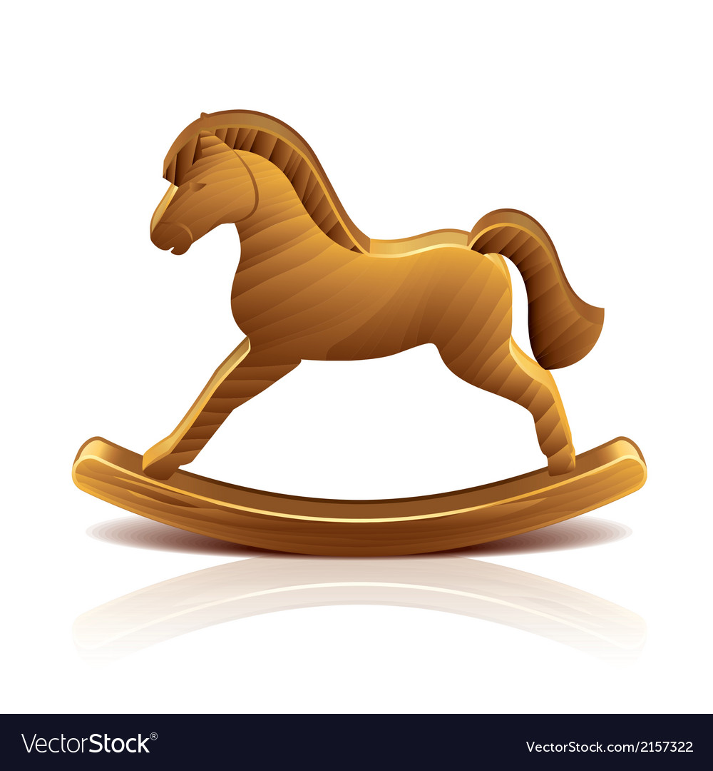Object wooden rocking horse vector | Price: 1 Credit (USD $1)