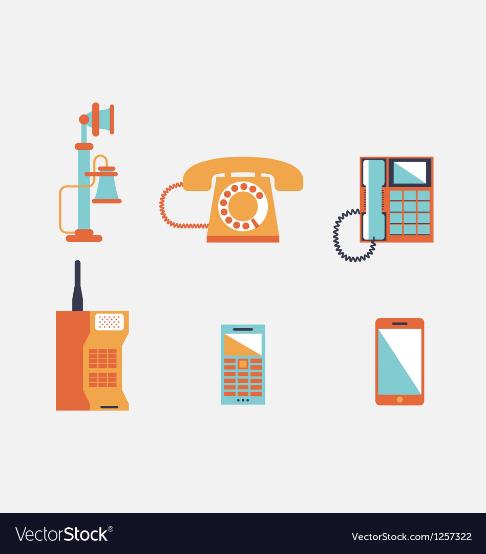 Phone icons vector | Price: 3 Credit (USD $3)