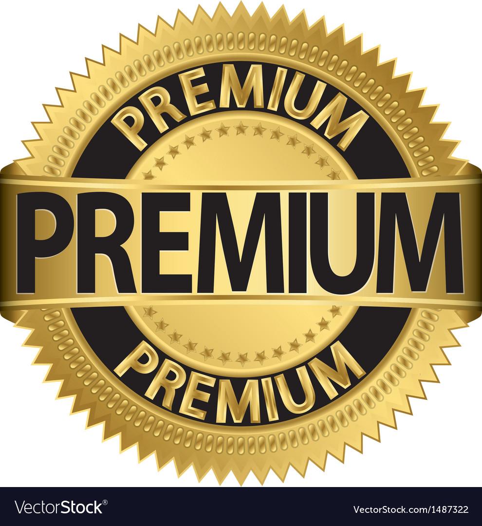Premium gold label vector | Price: 1 Credit (USD $1)