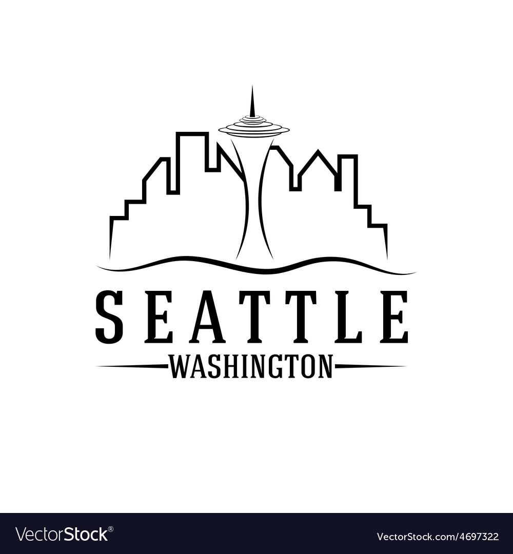 Seattle skyline design template vector | Price: 1 Credit (USD $1)