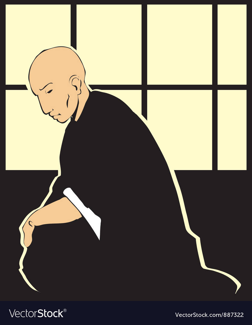 Shinto priest vector | Price: 1 Credit (USD $1)