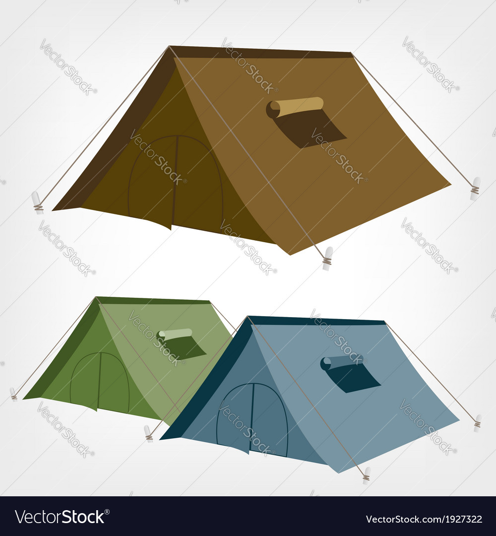 Tent vector | Price: 1 Credit (USD $1)