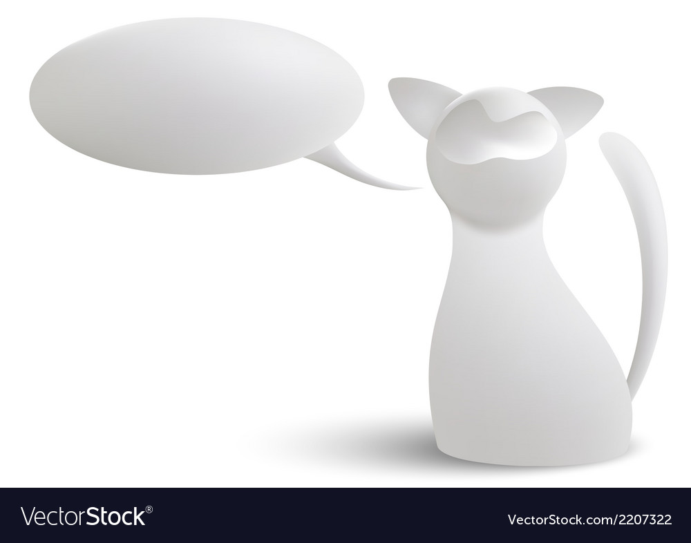 White cat vector | Price: 1 Credit (USD $1)