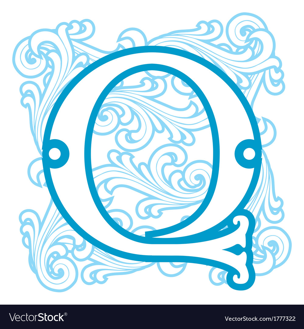 Winter vintage letter q vector | Price: 1 Credit (USD $1)