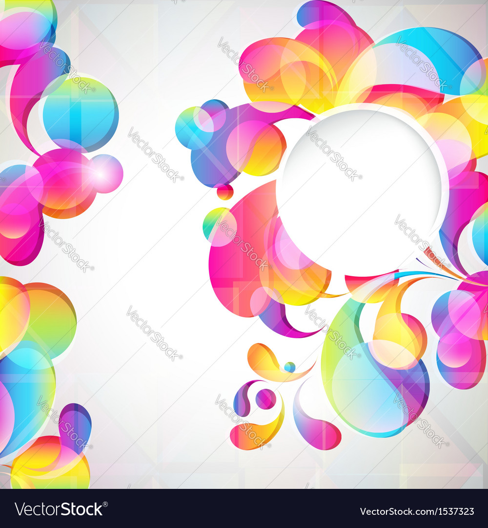 Abstract bright drops background vector | Price: 1 Credit (USD $1)