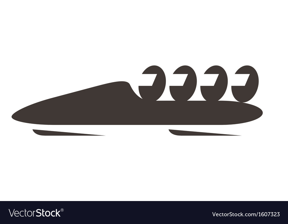 Bobsled icon vector   Price: 1 Credit (USD $1)