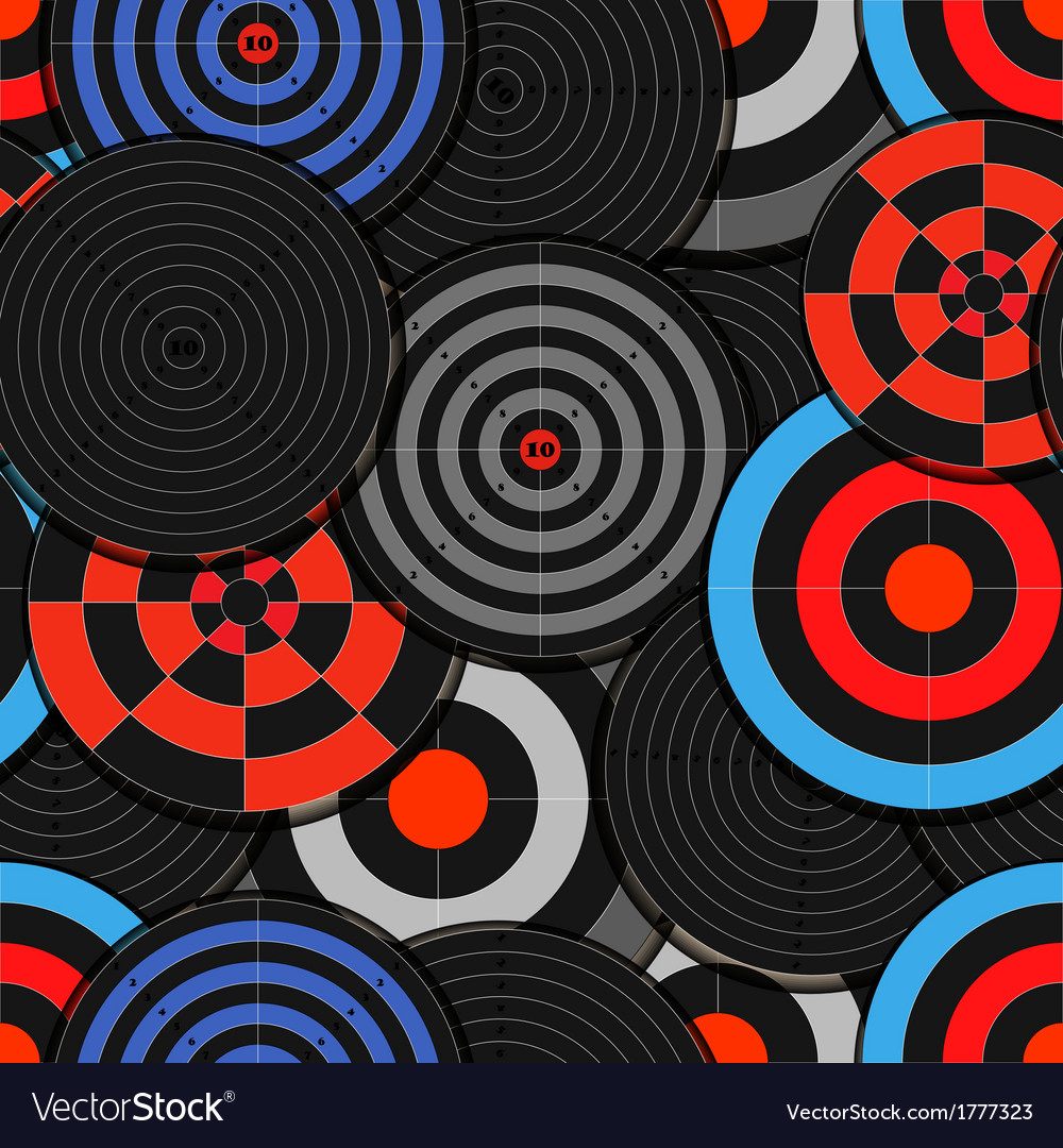 Colorful targets seamless background vector | Price: 1 Credit (USD $1)