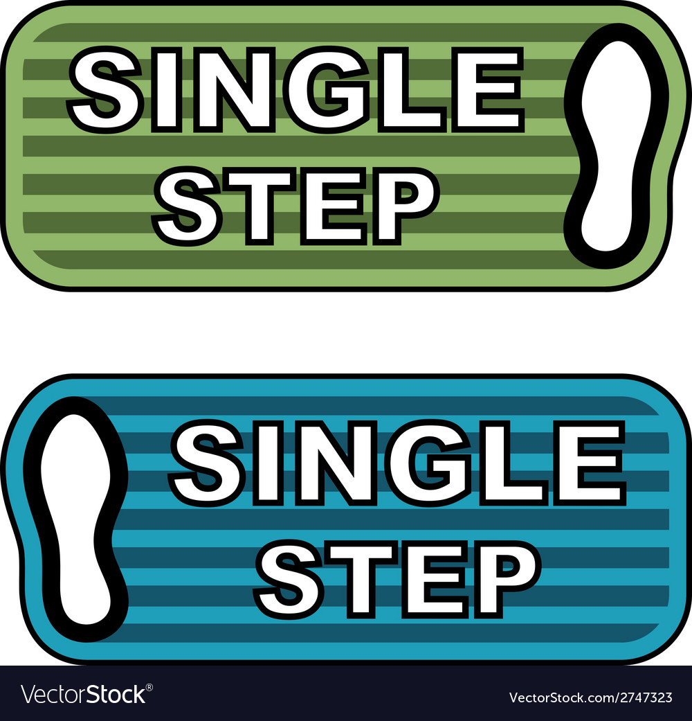 Imprint single step labels vector | Price: 1 Credit (USD $1)