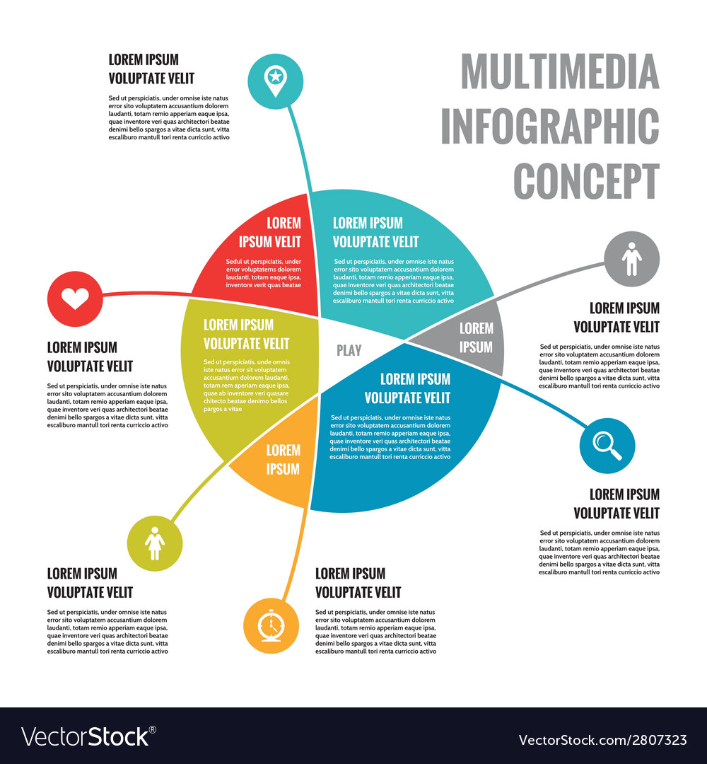 Multimedia infographic concept - abstract vector | Price: 1 Credit (USD $1)
