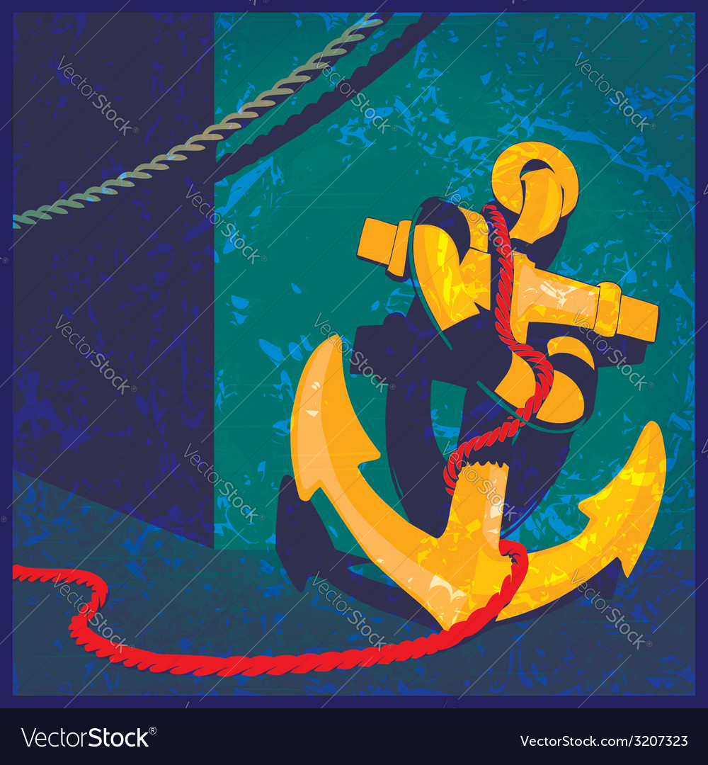 Nautical theme vintage vector | Price: 1 Credit (USD $1)