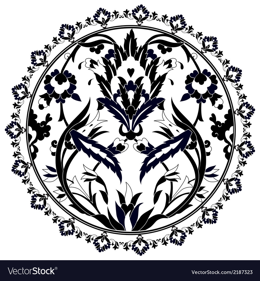 Ottoman motifs design series with twenty version vector | Price: 1 Credit (USD $1)