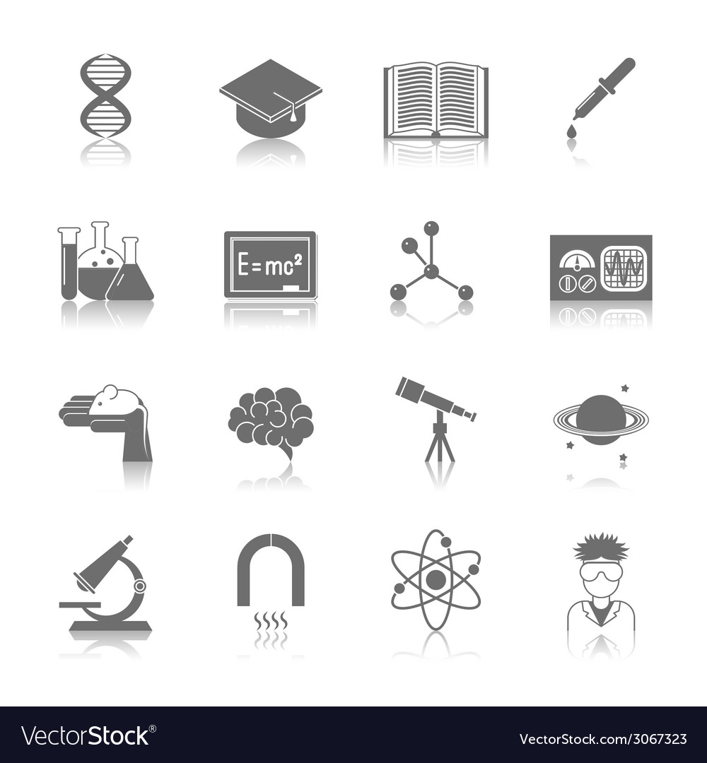 Science and research icon black vector | Price: 1 Credit (USD $1)