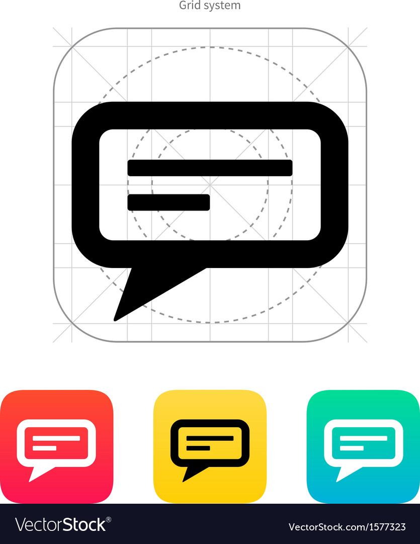 Send text message icon vector | Price: 1 Credit (USD $1)