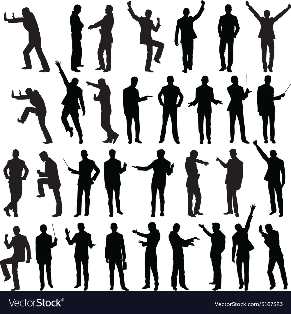 Silhouettes of business people vector | Price: 1 Credit (USD $1)