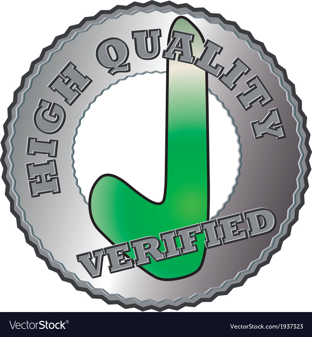 Silver quality seal vector | Price: 1 Credit (USD $1)