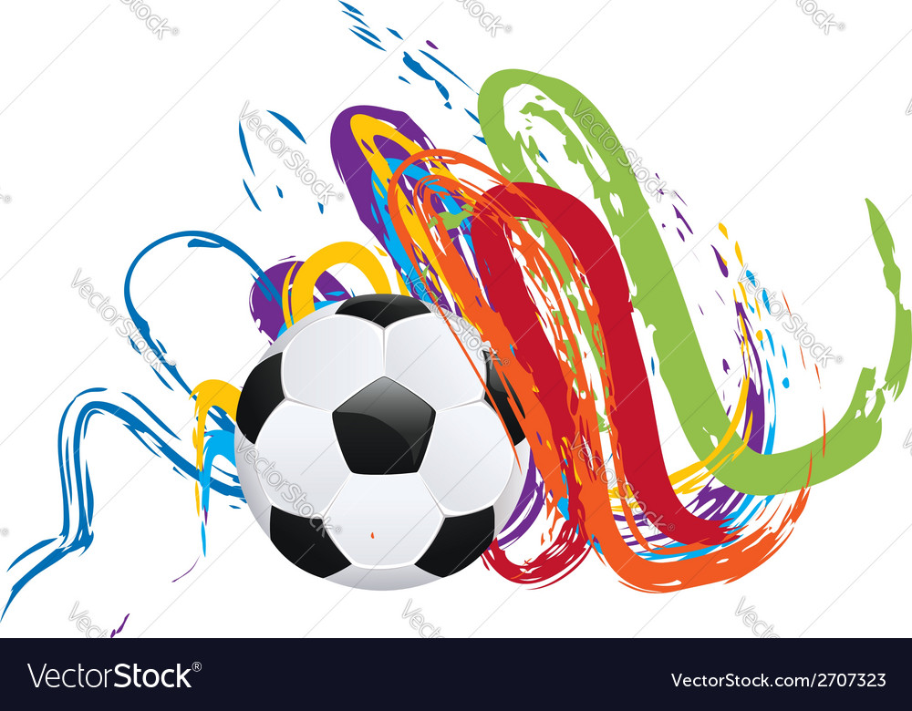 Soccer ball with brush strokes vector | Price: 1 Credit (USD $1)