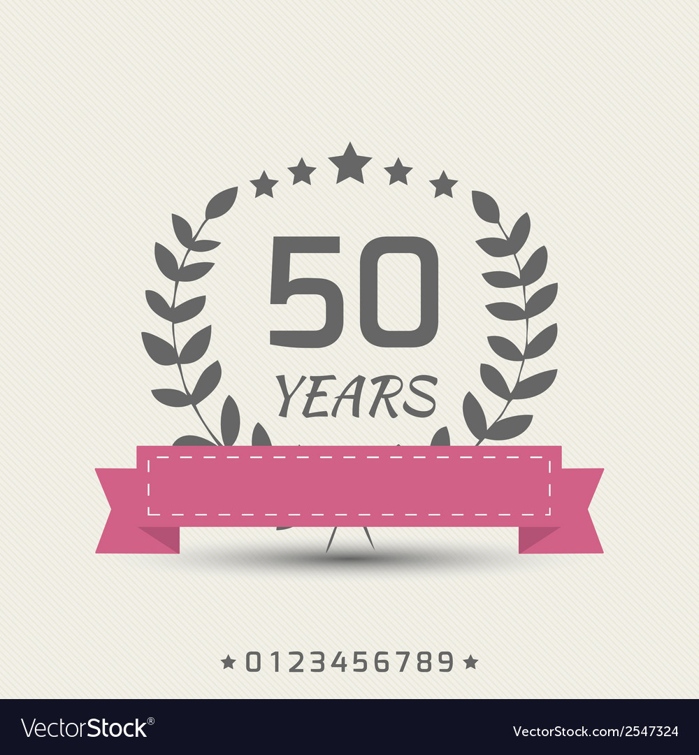 Anniversary sign vector | Price: 1 Credit (USD $1)