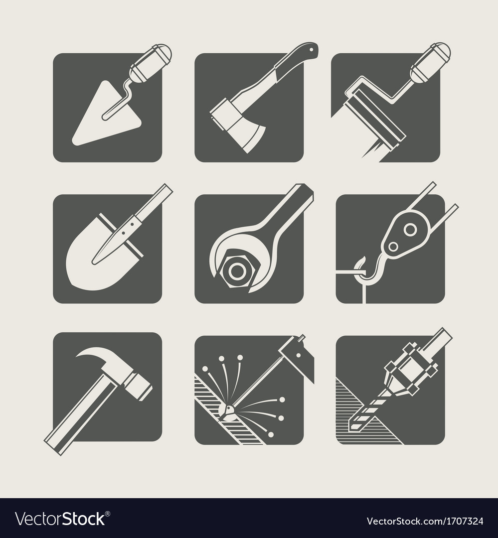 Construction tools set of vector | Price: 1 Credit (USD $1)