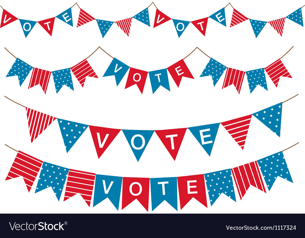 Election garland vector | Price: 1 Credit (USD $1)
