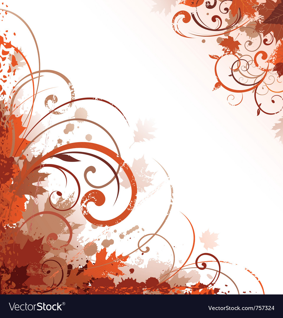 Floral autumn design vector | Price: 1 Credit (USD $1)