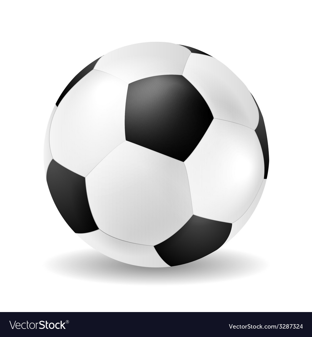 Isolated soccer ball closeup vector | Price: 1 Credit (USD $1)