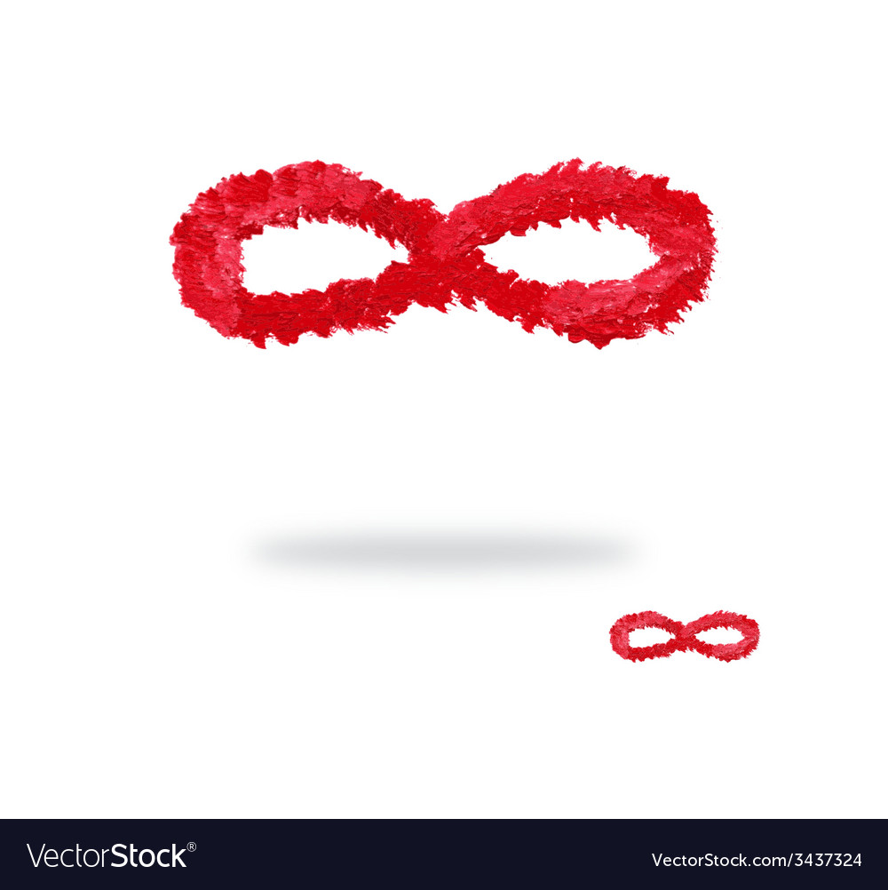 Oil painted infinity symbol vector | Price: 1 Credit (USD $1)