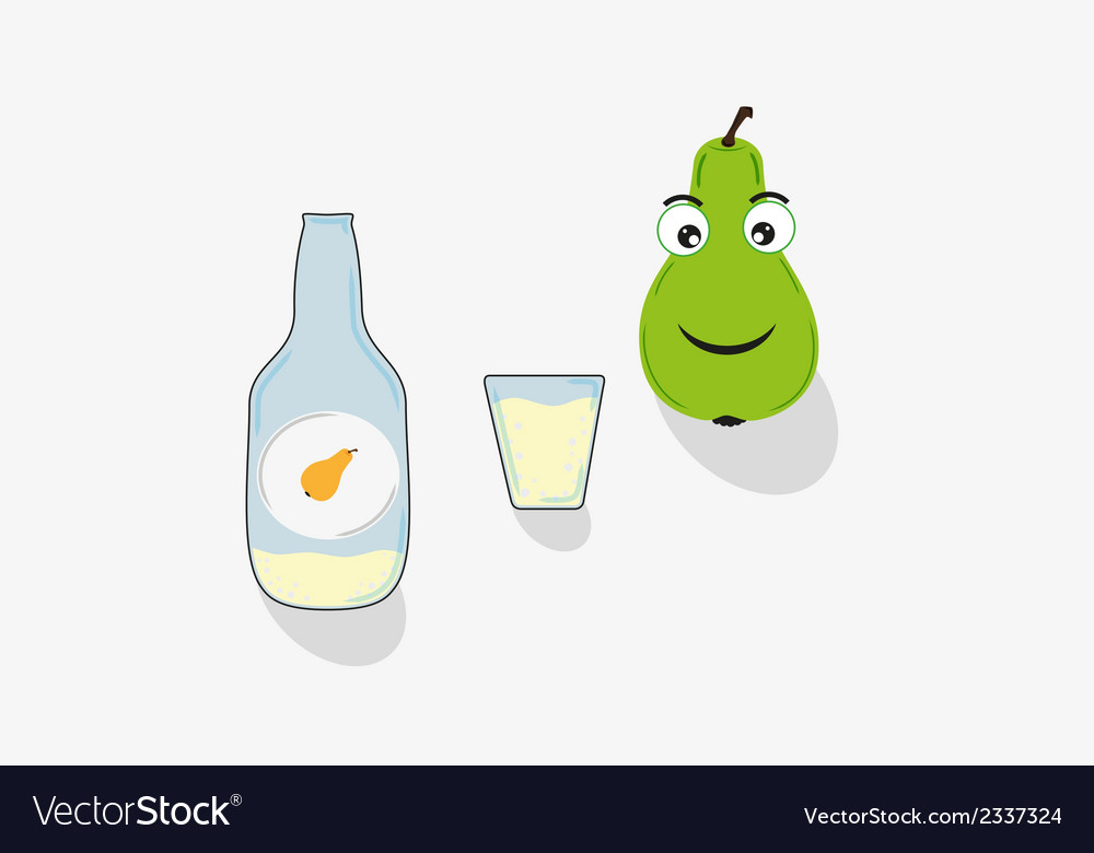 Pear short glass and bottle vector | Price: 1 Credit (USD $1)