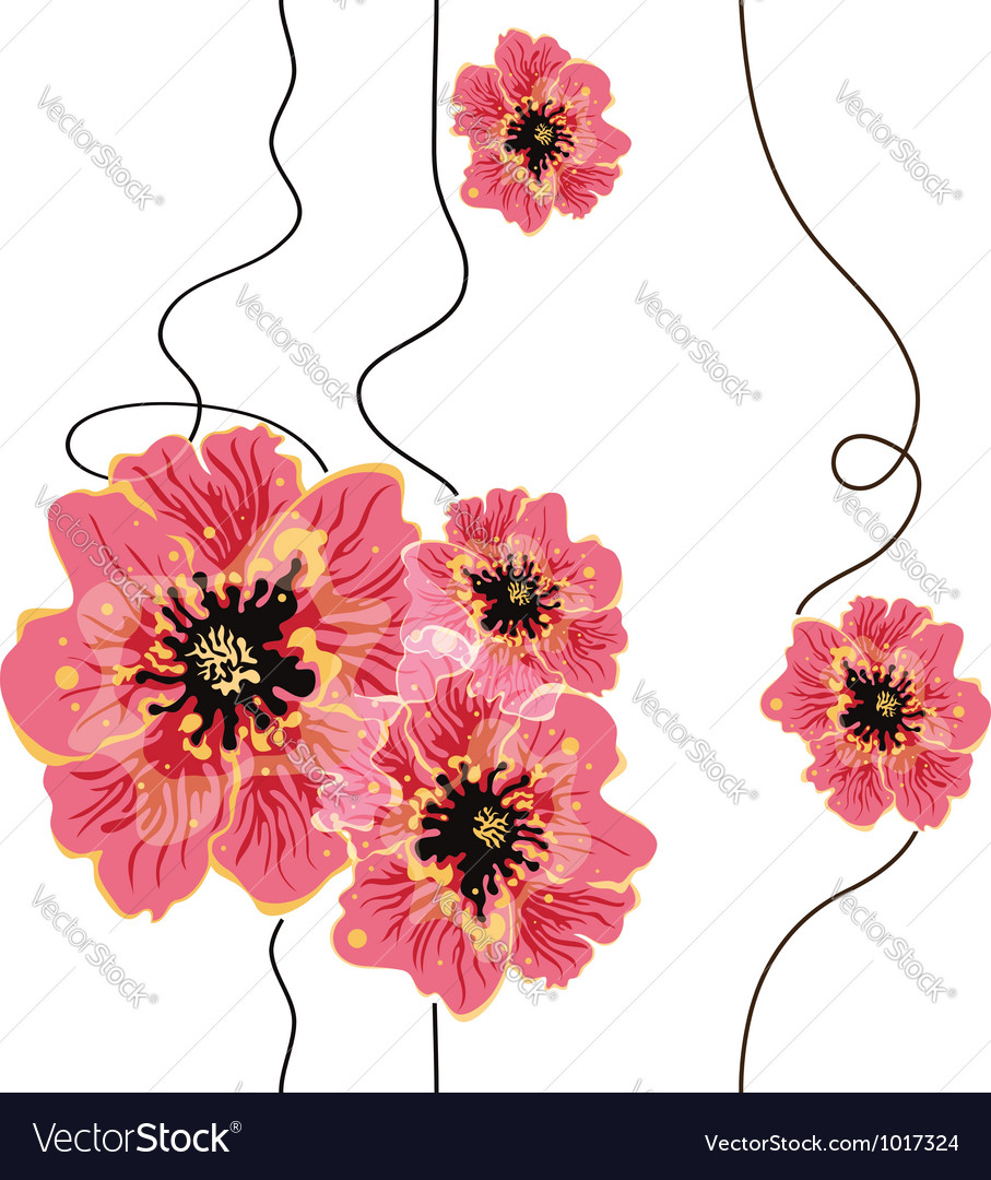 Seamless floral background design vector | Price: 1 Credit (USD $1)