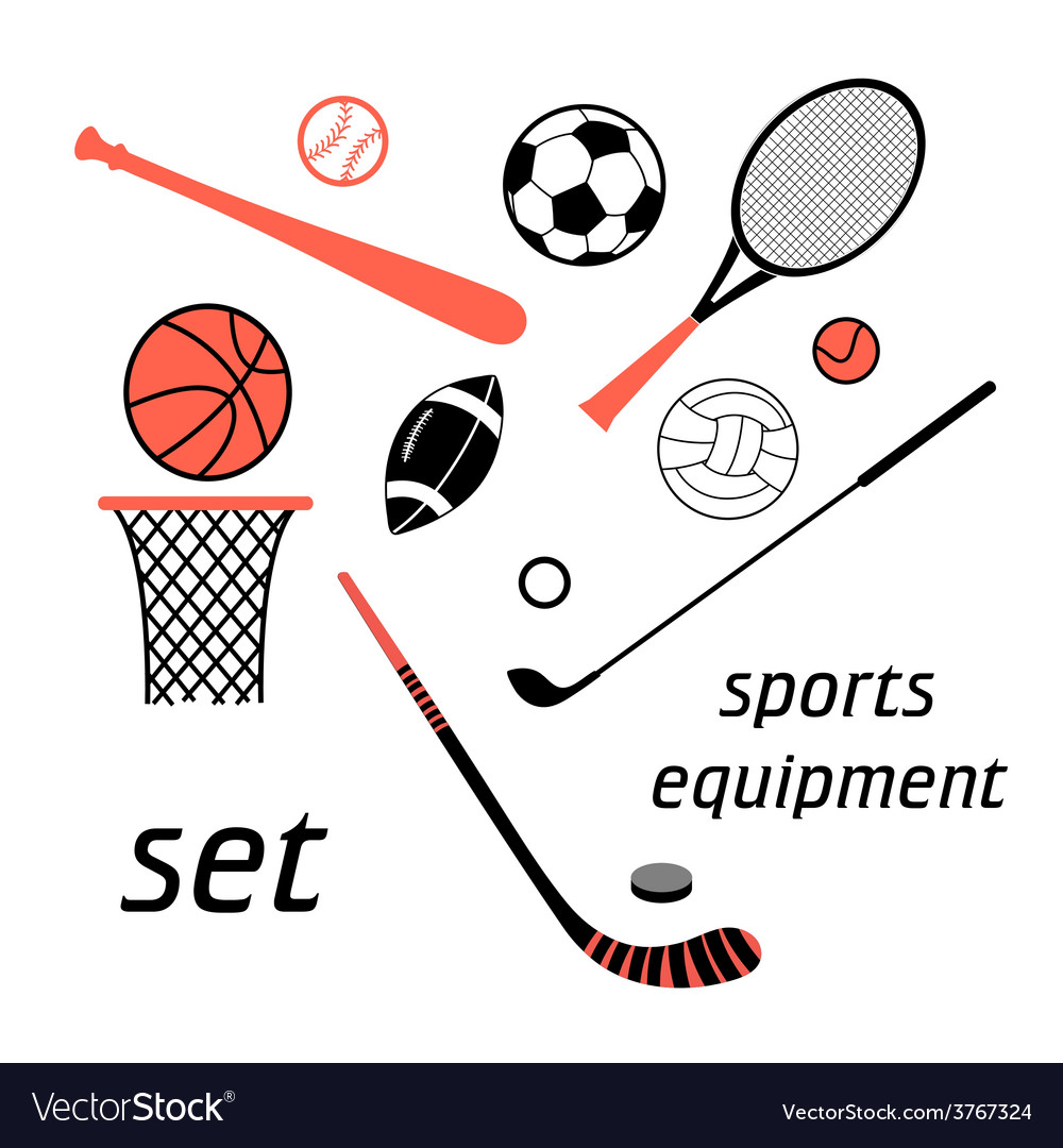 Sports items set vector | Price: 1 Credit (USD $1)