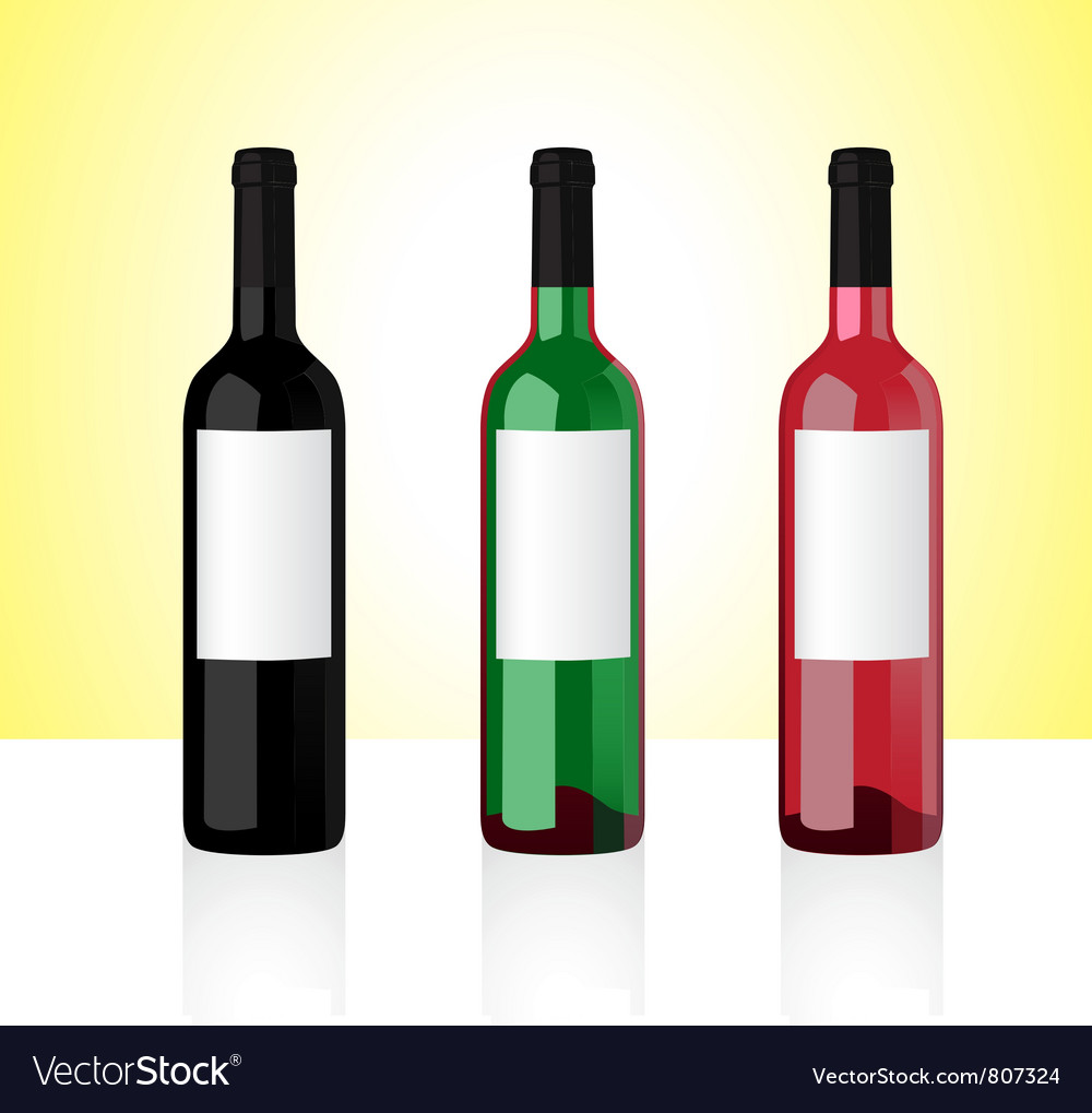 Wine bottles part 1 vector | Price: 1 Credit (USD $1)