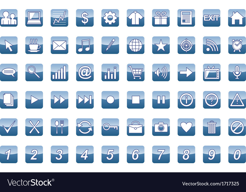 60 universal web icons set vector | Price: 1 Credit (USD $1)