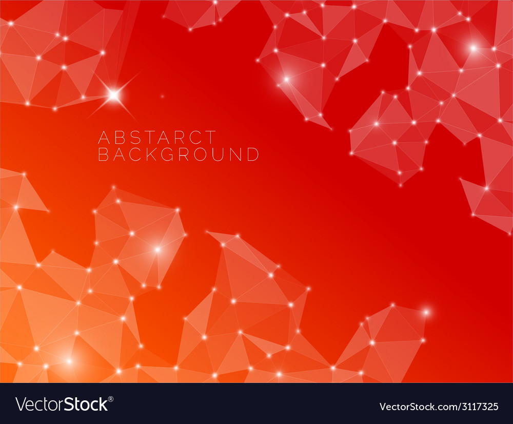 Abstract red background made from triangles vector | Price: 1 Credit (USD $1)
