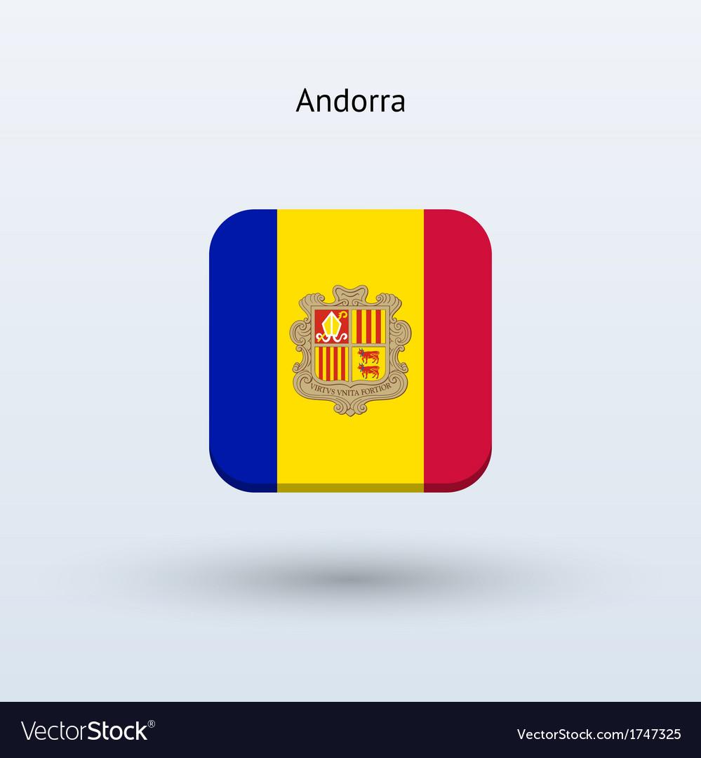 Andorra flag icon vector | Price: 1 Credit (USD $1)