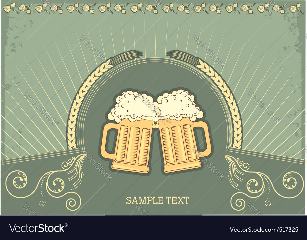 Beer festival background vector | Price: 1 Credit (USD $1)