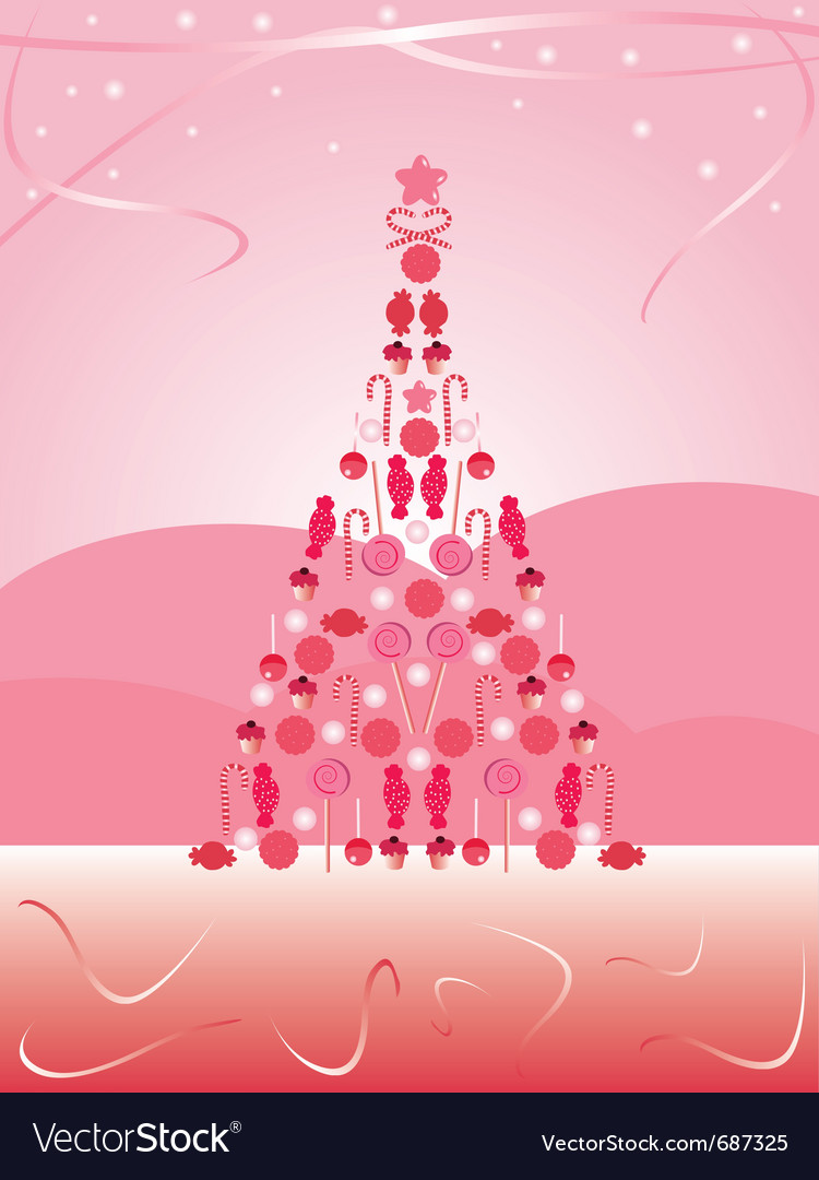 Candy christmas tree vector | Price: 1 Credit (USD $1)