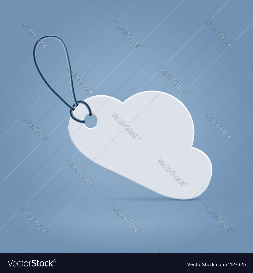 Cloud shaped tag label vector | Price: 1 Credit (USD $1)