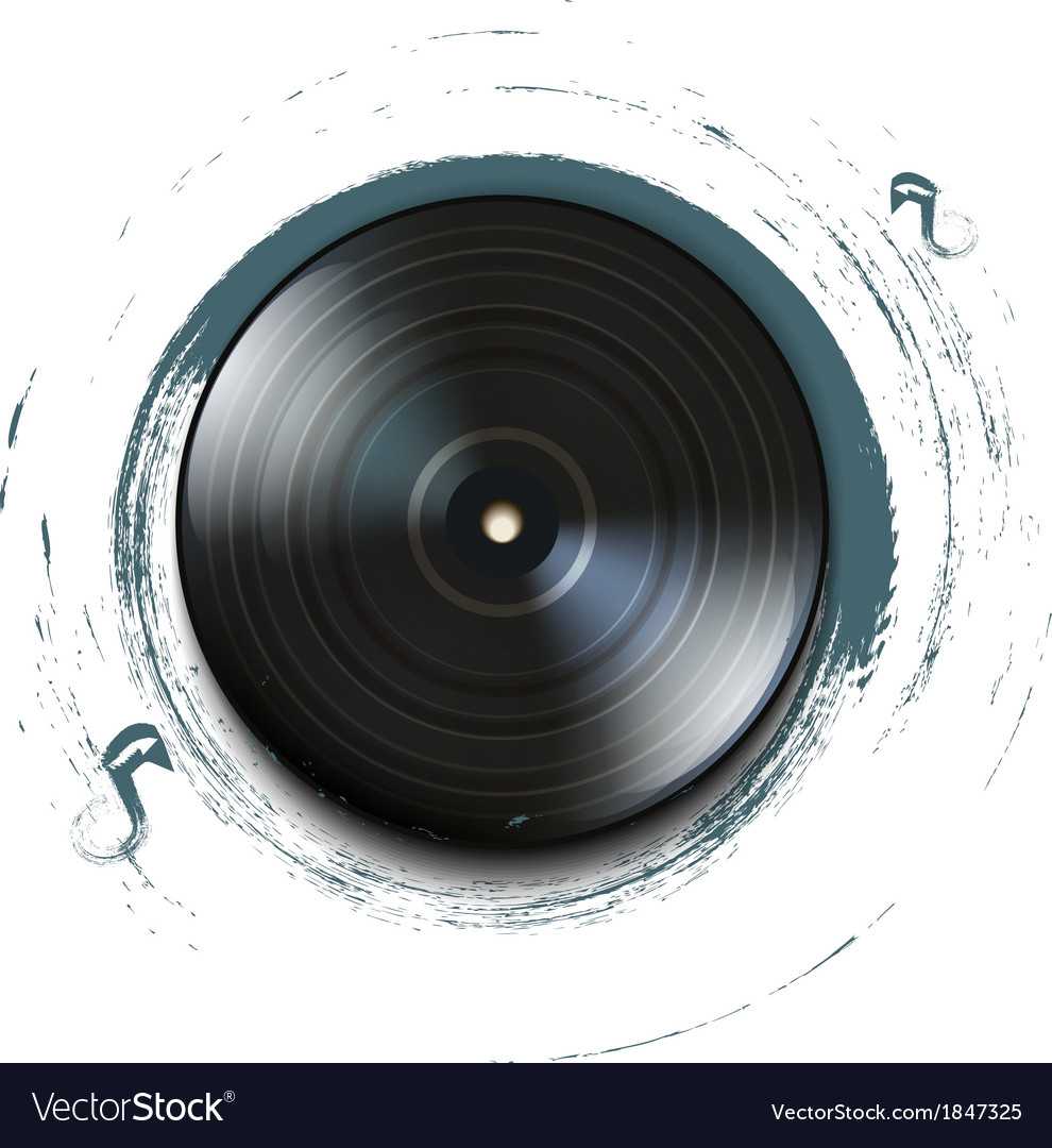 Grunge vynil record icon on background vector | Price: 1 Credit (USD $1)