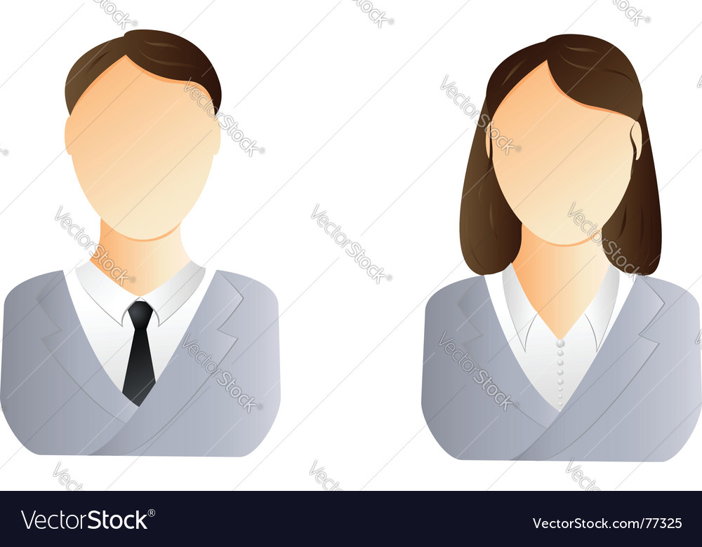 Man and woman user icon vector | Price: 1 Credit (USD $1)