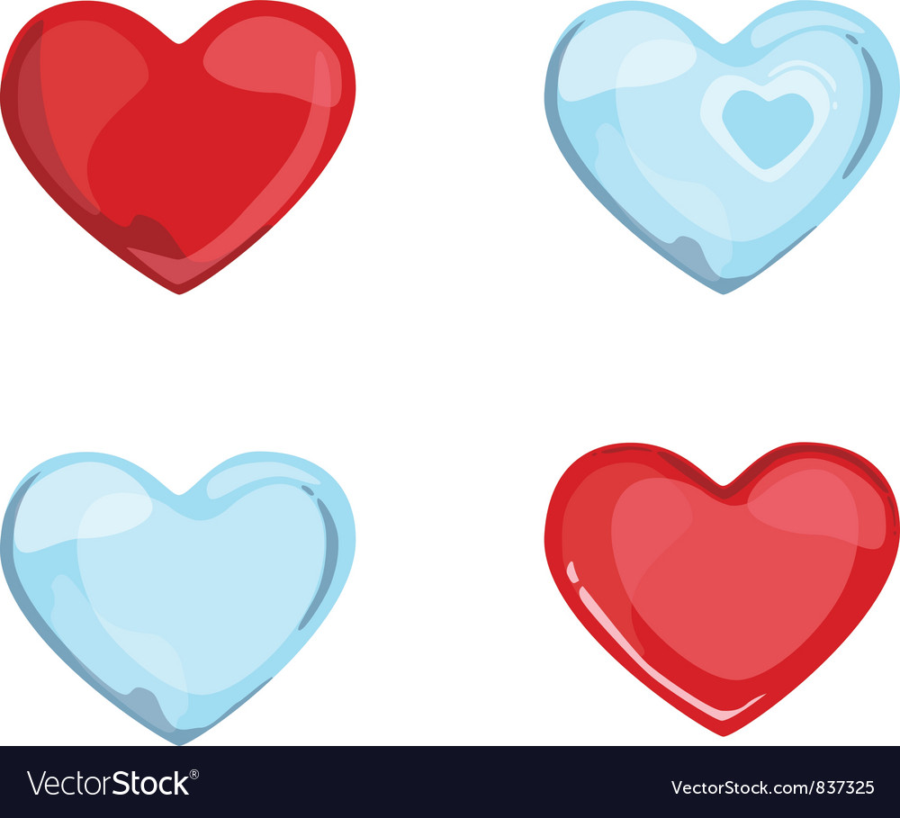 Red blue hearts vector | Price: 1 Credit (USD $1)