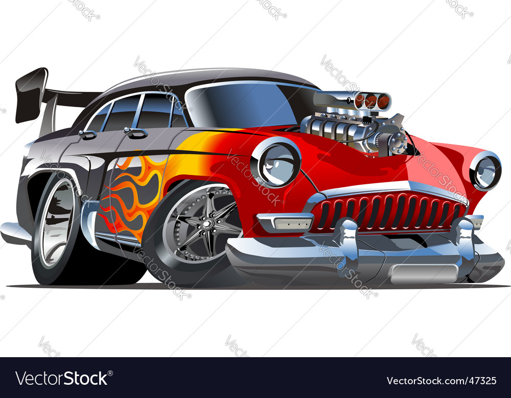Retro cartoon hotrod vector | Price: 3 Credit (USD $3)