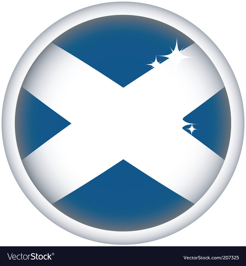 Scottish flag button vector | Price: 1 Credit (USD $1)