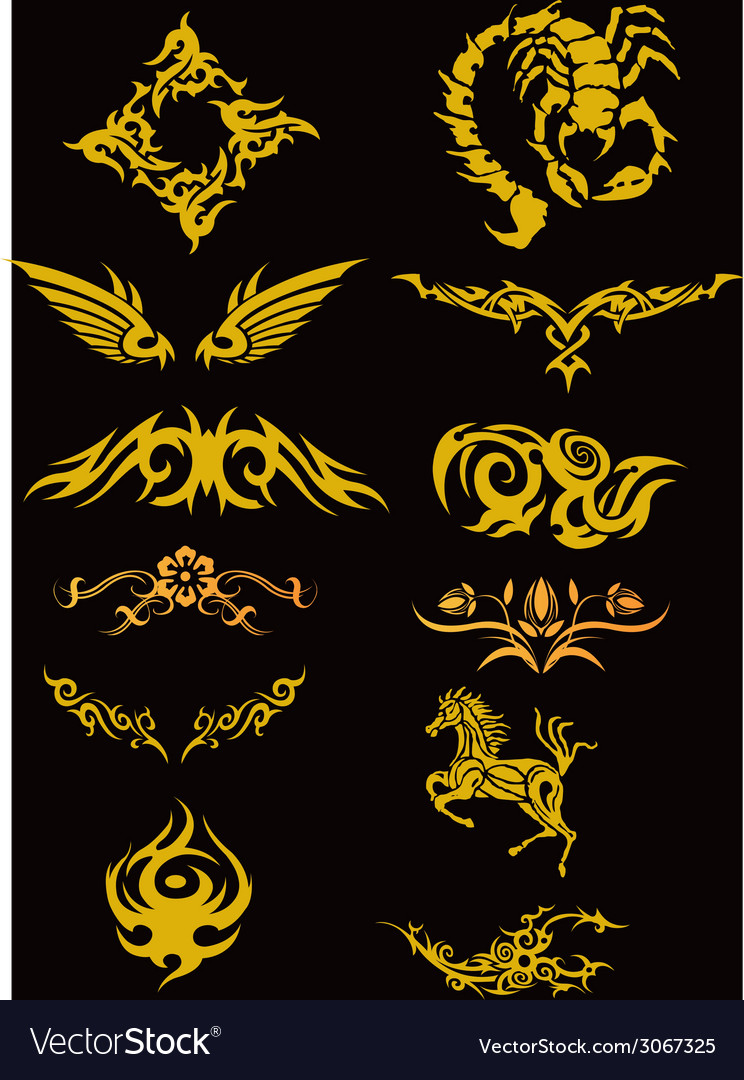 Tatoo set vector | Price: 1 Credit (USD $1)