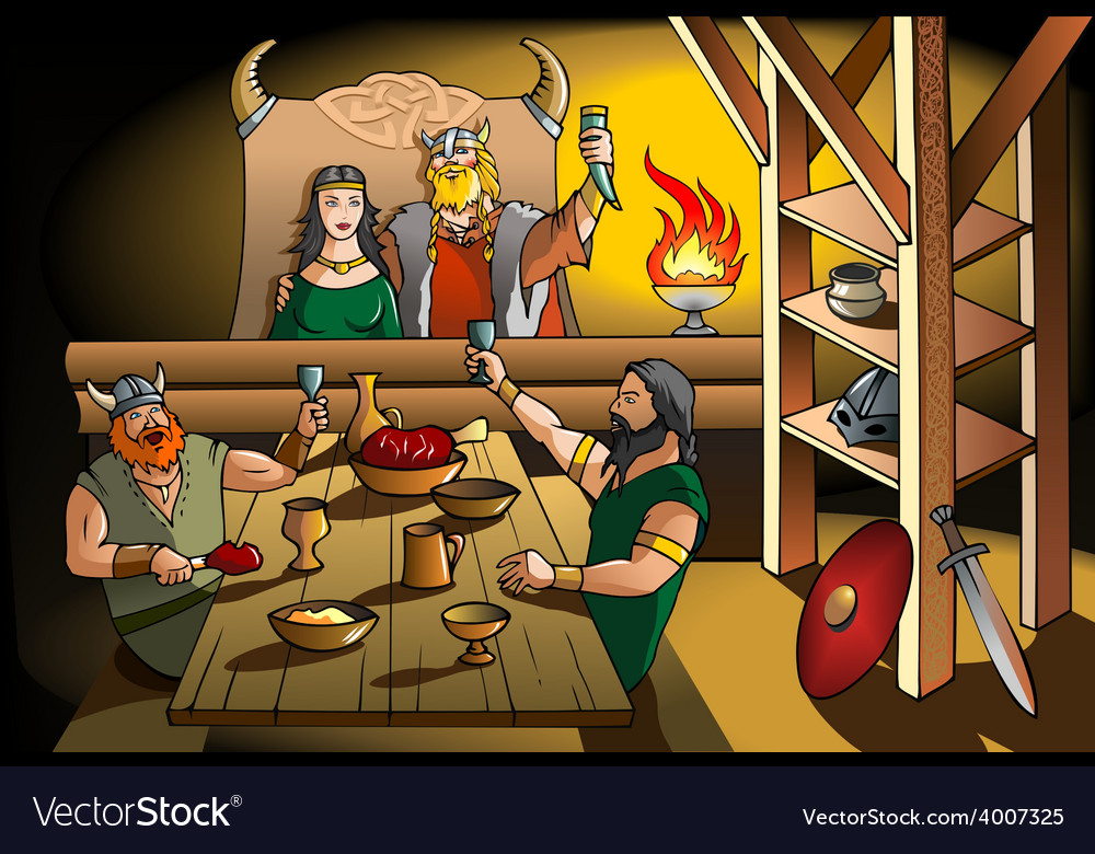 Vikings feast vector | Price: 3 Credit (USD $3)