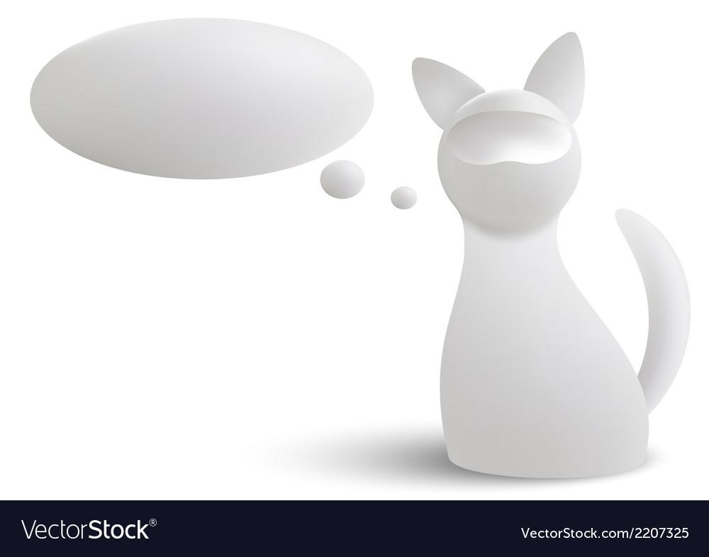 White cat vector | Price: 1 Credit (USD $1)
