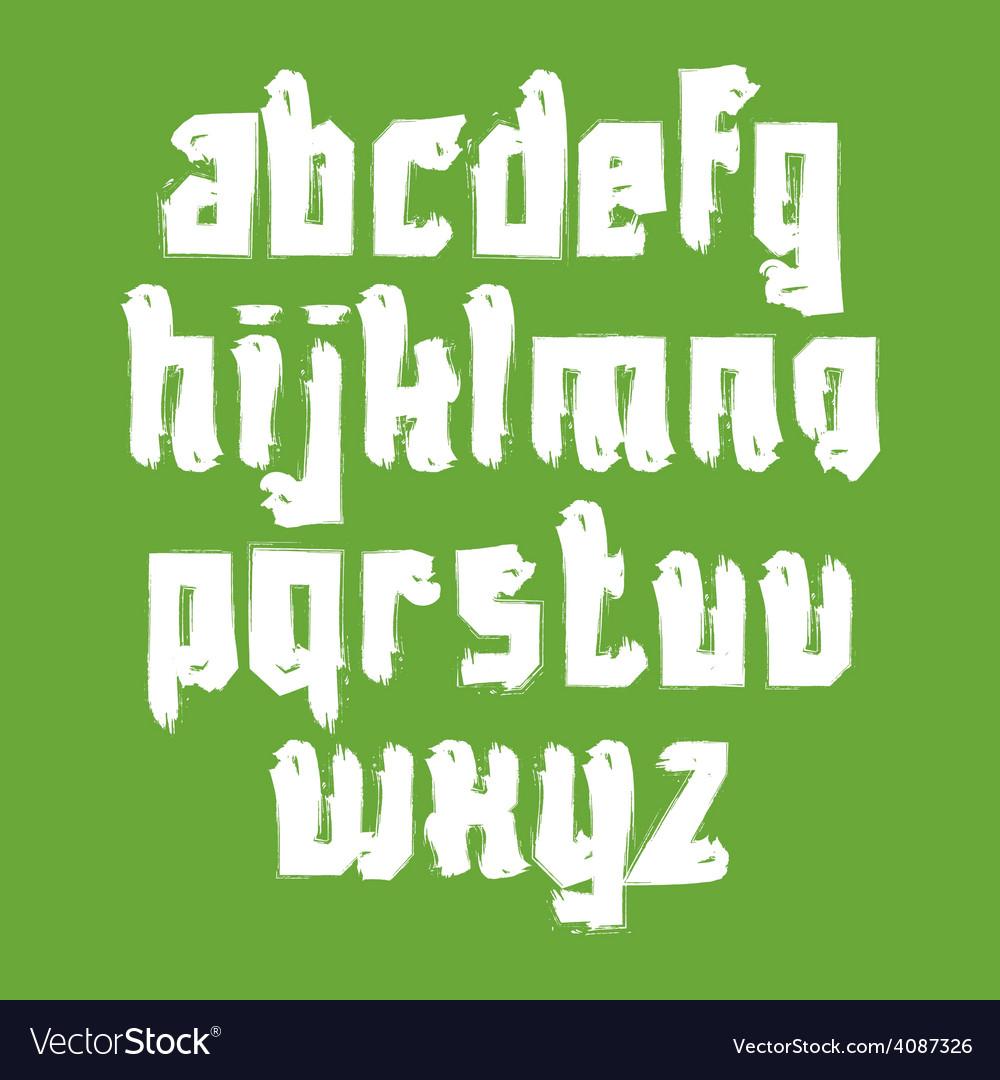 Alphabet letters set hand-drawn white script vector   Price: 1 Credit (USD $1)